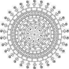 Curious Cat - Free Printable Mandala Coloring Page  #mandala #adultcoloring…