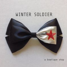 winter soldier hair bow ($6.50) ❤ liked on Polyvore featuring accessories, hair accessories, avengers, jewelry, bow, hair, hair bow accessories and hair bows