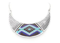 Collar étnico plateado 13.70 www.cobaltoaccesorios.com  #moda #cobaltoaccesorios  #complementos #tendencias  #collar