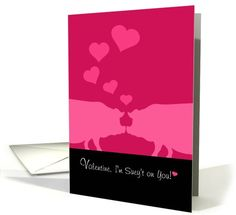 Valentine, I'm Sweet On You, Pink Pigs and... | Greeting Card Universe