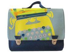 cheerful 'typewriter' schoolbag -medium Miniséri | Kids shop the Little Zebra