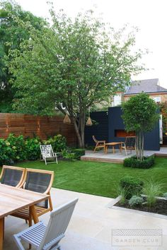 Perennial Flower Gardening - 5 Methods For A Great Backyard Clapham Modern Sanctuary - Garden Club London Modern Garden Design, Backyard Garden Design, Backyard Patio, Balcony Garden, Garden Landscaping, Modern Landscaping, Garden Beds, Landscaping Ideas, Backyard Ideas
