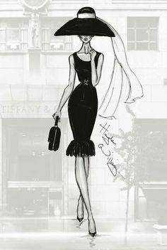 Williams fashion illustrations #classic #DressingwithBarbie
