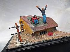 Image result for flood dioramas 3d Projects, Science Projects, School Projects, Projects For Kids, The Ark Encounter, Diorama Kids, Weather Crafts, 1st Grade Science, Make Your Own
