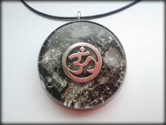 AUM-OM Orgonite Pendant Orgone Energy by OrganiseOrgonite on Etsy