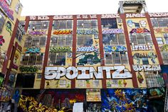 "A giant warehouse building complex, known as ""5 Pointz,"" in Long Island City, New York, is known as a graffiti mecca, but recently, the property owner announced plans to raze the buildings to build high-rises. The decision was a blow to graffiti artists who have used the exteriors as an exhibition space for years. (Flickr photos by Dan Nguyen)"