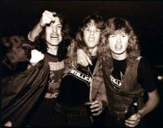 James Hetfield, Dave Mustaine and Cliff Burton