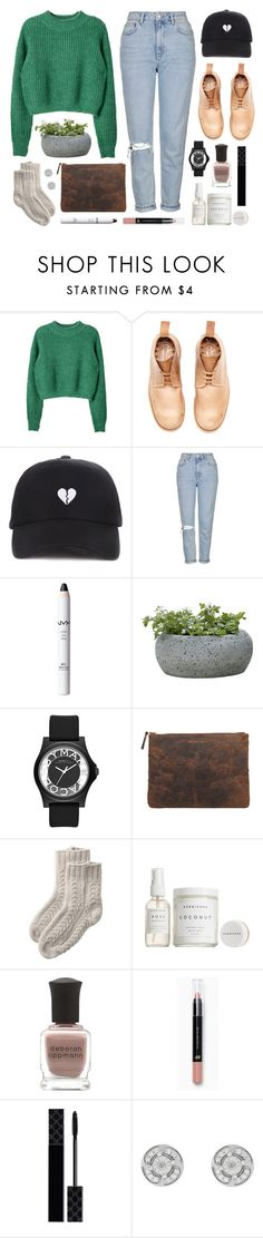 """""""Giudi Green"""" by sophiehackett ❤ liked on Polyvore featuring Topshop, NYX, Campania International, Marc by Marc Jacobs, Comme des Garçons, Toast, Herbivore, Deborah Lippmann, H&M and Gucci"""