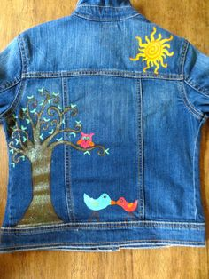 Hip Chicks Hand Painted Jean Jacket  Love by Hipchicksboutique, $69.00