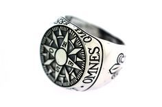 Awesome Compass Signet Ring