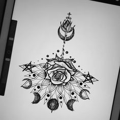 Chest Tattoo for women - of the most beautiful templates and lots of great ideas! - Mandala Tattoo Meaning design You are in the right place a - Cool Chest Tattoos, Chest Tattoos For Women, Meaningful Tattoos For Women, Dope Tattoos, Body Art Tattoos, Small Tattoos, New Tattoos, Flower Tattoos, Chest Tattoo Drawings