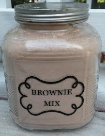 Bulk Brownie Mix Recipe - This is the one my family really likes. Maacah uses mini chocolate chips in it, since none of my kids like nuts.  :-(