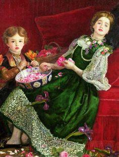Pintura 'Pot Pourri' de John Everett Millais