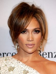 Jennifer Lopez adds some va-va-volume to create a super chic and soft updo.