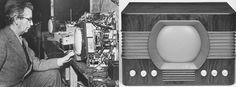 #UnDiaComoHoy 1926 en EEUU., John Logie Baird presenta en público su prototipo del primer televisor mecánico.