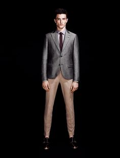 Tiger of Sweden Silver Blazer and Pant SS 2012 #suit