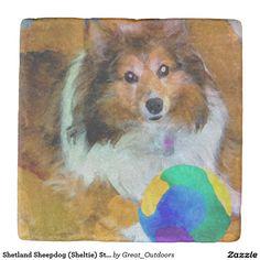 Shetland Sheepdog (Sheltie) Stone Coasters