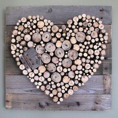 Pallet Wood and Sticks Valentine's Heart - Scavenger Chic