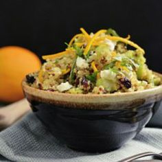 Cranberry, Orange, and Goat Cheese #Quinoa Salad