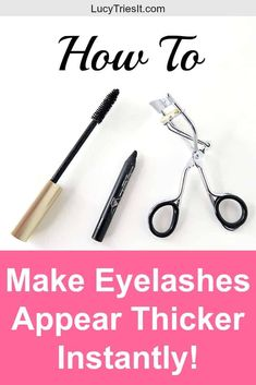 Are you constantly trying to figure out how to make your eyelashes look thicker? Luckily, there's a super quick little trick that actually makes your eyelashes look bigger instantly!  via @lucytriesit #eyelashes #makeuptips #makeuptipsandtricks #makeuptipsforbeginners #makeupblog #beautyblogger #eyeliner