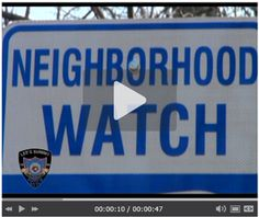 Information about neighborhood watches City O, Neighborhood Watch, Safety Tips, Programming, The Neighbourhood, Public, Watches, Check, The Neighborhood