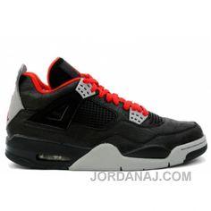 a1aac49fe13 Authentic Nike Shoes For Sale Air Jordan 4 IV Retro Rare Air in Black  Varsity Red Medium Grey Laser  Men Air Jordans -