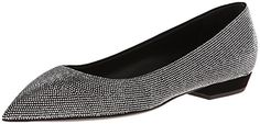 The Trend - Sparkly Flats. Giuseppe Zanotti Women's Studded Pave Ballet Flat. Giuseppe Zanotti Women's Studded Pave Ballet Flat,Cam Nero,6 M US. Pointed-toe ballet flat covered in small, round metallic studs.