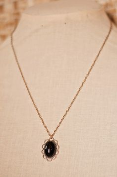 Handmade Copper Necklace Black Onyx Necklace by GnidGnadDesigns
