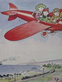 Japanese Children's Books Illustrators / Nihon no Doga - airplane ride