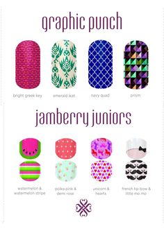 Jamberry Nail Wraps - Buy 3 get 1 free!! shop online with me www.sarahc.jamberrynails.net