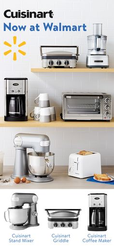 From Coffee-Makers to Stand Mixers and Griddles, find greatprices on all things Cuisinart at Walmart. Check out Walmart's weekly ad for all your homeneeds.