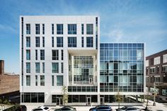 Richard Meier has completed a trio of residential buildings and two charter schools in downtown Newark, the city where he was born.