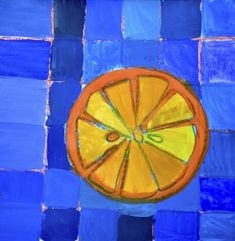Citrus fruits in complementary colors Painting For Kids, Art For Kids, Color Art Lessons, Fruit Art Kids, Citrus Fruits, Elementary Art, Third Grade, Preschool Activities, Teaching Ideas