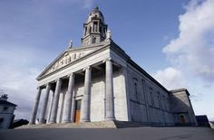 A general view of the exterior of neo-classical St Mel's cathedral, Longford, County Longford, Ireland.
