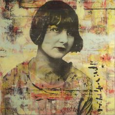 Encaustic with photograph