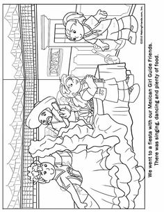 girl scout coloring pages pdf   Mexican Girl Guide Coloring Page