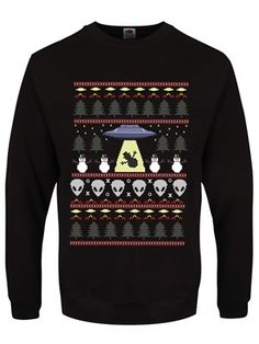 Something's out there... And they're stealing our snowmen! Keep an eye on the sky this Christmas, you never know who could be flying through the air (and we're not just talking about Santa!) With aliens and UFOs amongst other xmas goodness, this jumper is the perfect gift for anyone who BELIEVES!