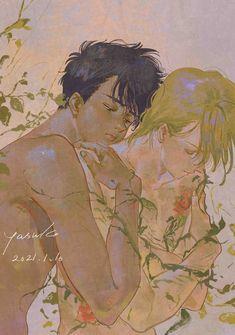 Pretty Art, Cute Art, Aesthetic Art, Aesthetic Anime, Manga Anime, Anime Art, Banana Art, Animes On, Boy Fishing