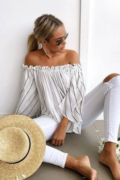 Off the shoulder tops are flattering and fun. Besides, they are available in a variety of prices and looks.