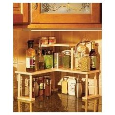 Beau Kitchen Corner Wood Shelf