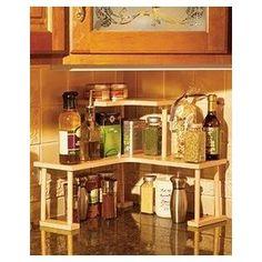 Kitchen Corner Wood Shelf