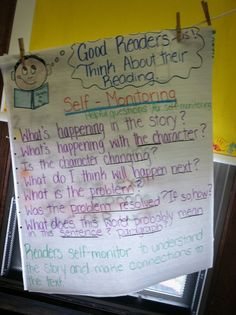 Good readers Think about their reading.....