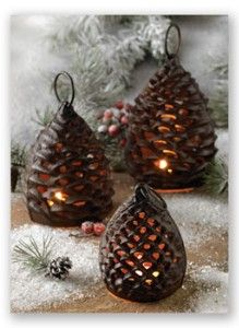 Pinecone Tealight...