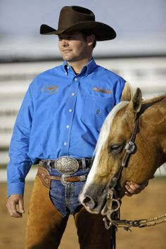 Clinton Anderson...he's an Australian cowboy who trains horses...what's not to love?!?