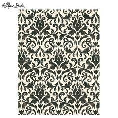 "Vintage Black Ornate Scrapbook Paper - 8 1/2"" x 11"""