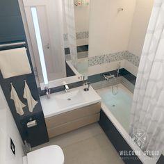 Casas de banho minimalistas por мастерская дизайна welcome studio minimalista Modern Toilet, Small Toilet, Modern Bathroom, White Bathroom Cabinets, Bathroom Layout, Bathroom Ideas, Bathroom Remodeling, Bathroom Inspiration, Diy Flooring
