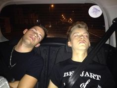 sleeping beauties hahahha, bless them!! it has been a long day - Jake