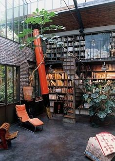 Garden library?! I will spend my life in here!