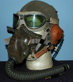 Oxygen mask similar to what Louis and his crew had to wear during high altitude flights.
