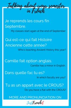 Are you planning to study in France? You'll need to know a bit more about French univeristy and French for university. French Phrases, French Words, Learn To Speak French, Learn English, English English, Ways Of Learning, Learning Spanish, Learning Italian, French Lessons